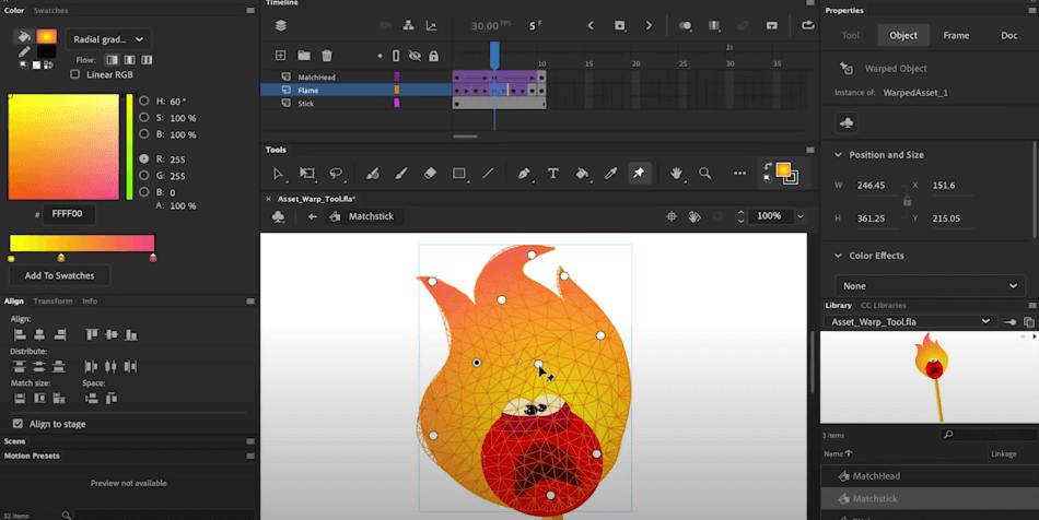 Adobe Animate Character Animation Mash Points