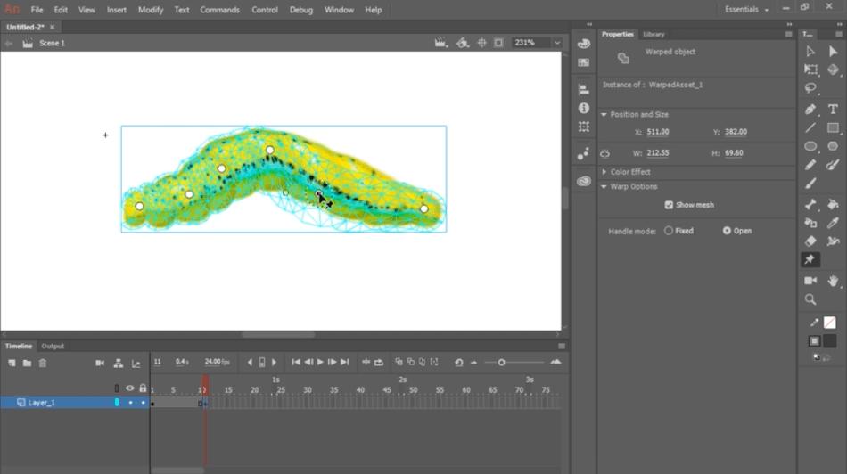 Adobe Animate Warp Tool