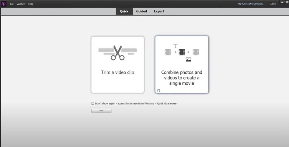 Adobe Premiere Elements import clips workflow