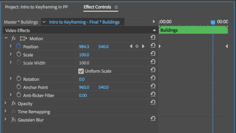 Adobe Premiere Pro effects