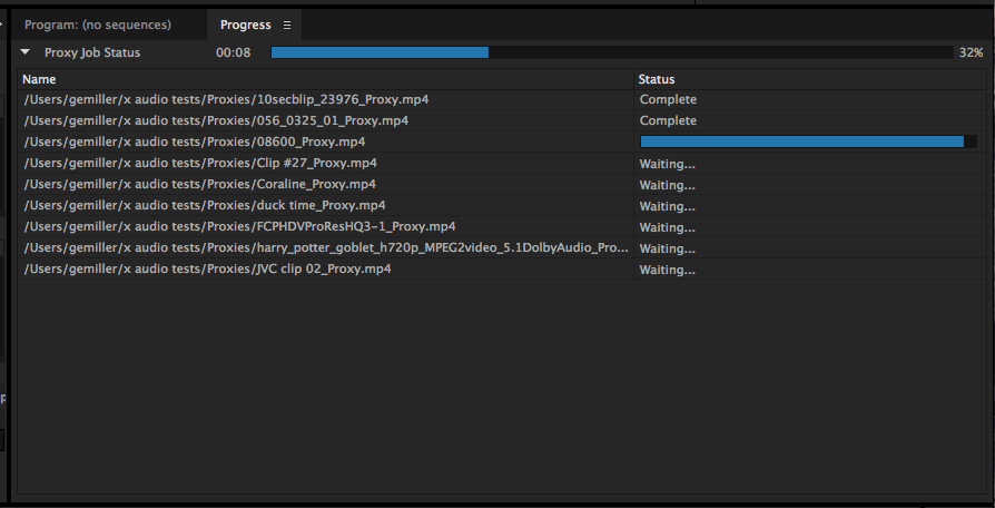 Adobe Premiere Pro import clips workflow