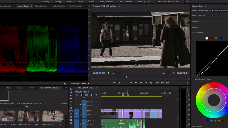 Adobe Premiere Pro lumetri color color correction