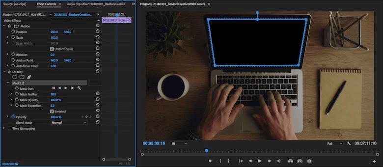 Adobe Premiere Pro masking effect