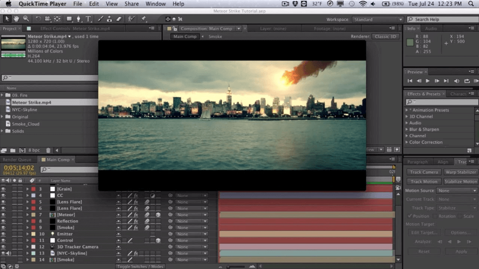 After Effects Compositing multiple 3D Layer