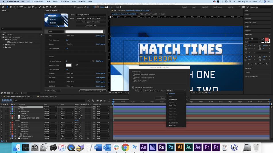 After Effects Feature Title Design