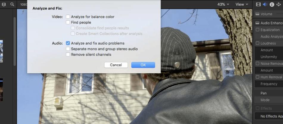 Final Cut Pro Analyze And Fix Audio