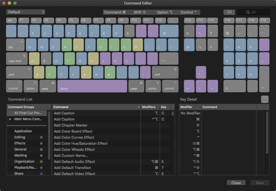 Final Cut Pro Customize Keyboard Shortcuts