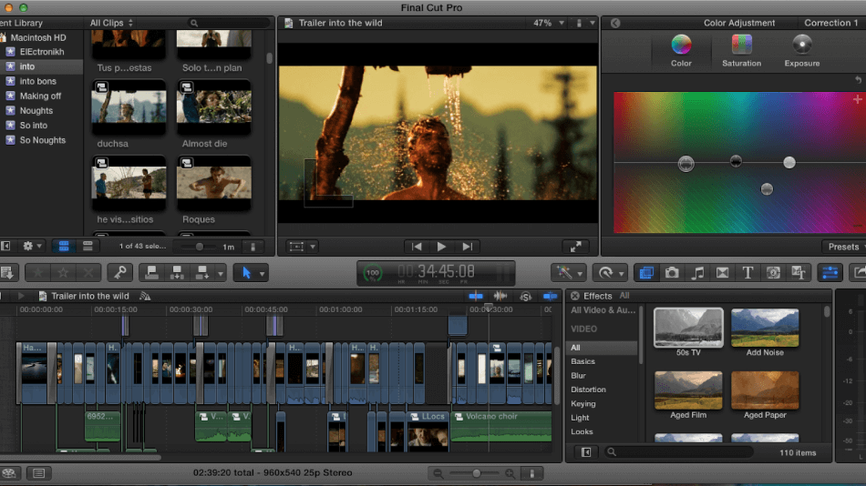 Final Cut Pro Automatic Color Correction