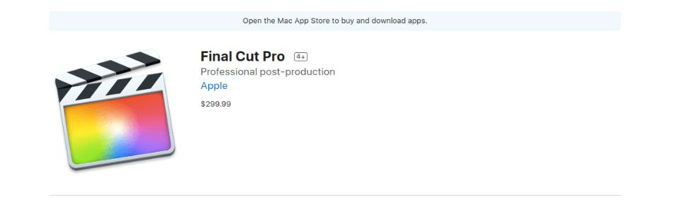 Final Cut Pro Pricing