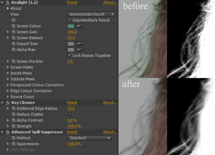 After Effects Chroma Key Effect