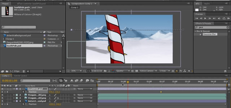 After Effects Composite Cartoon