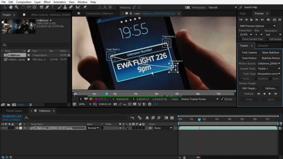 After Effects Track Object