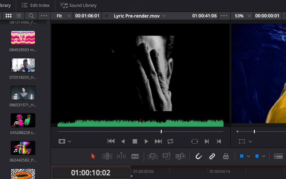 DaVinci Audio Overlay