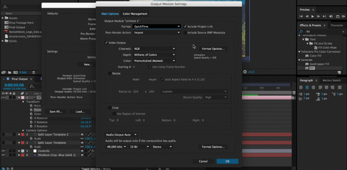 After Effects Project Sharing