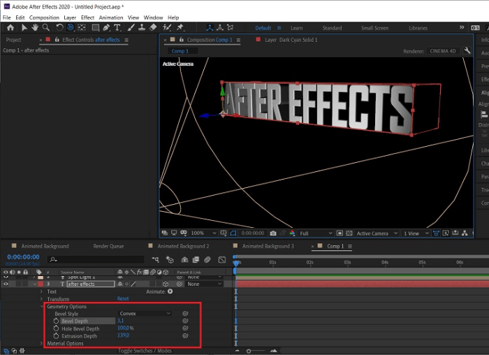After Effects Texts