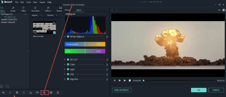 Filmora Color Correction