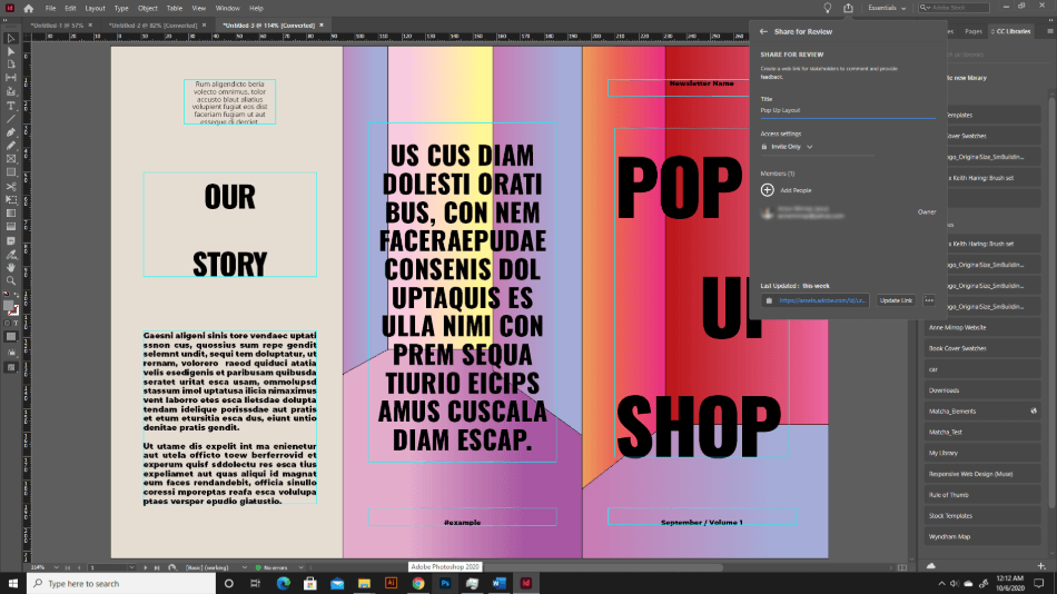 Adobe InDesign Collaboration