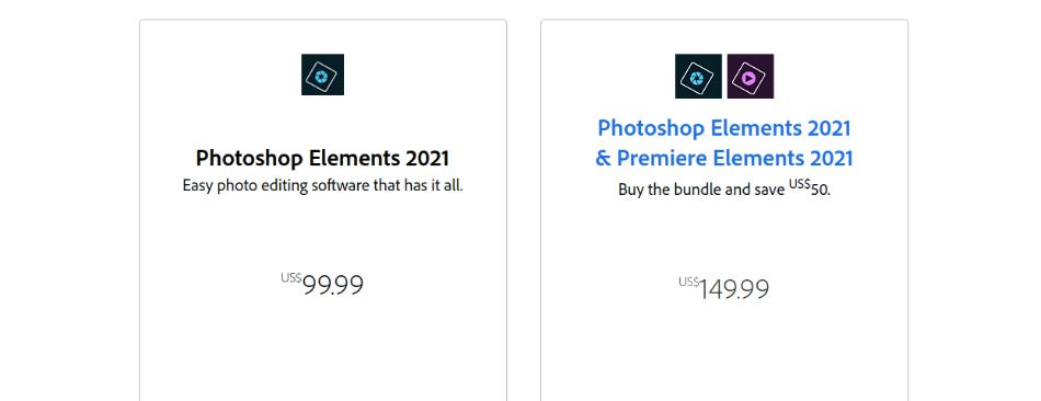 Adobe-Photoshop Elements Pricing