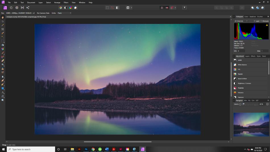Affinity Photo Interface