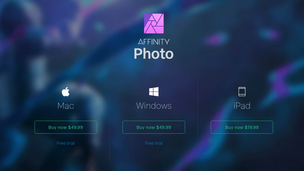 Affinity Photo Pricing