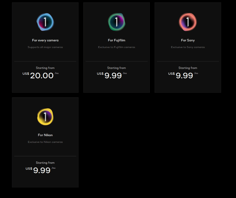 Capture One Pricing
