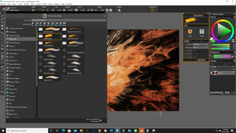Corel Painter Brushes