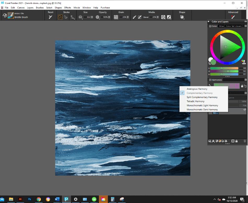 Corel Painter Color Selection Tool