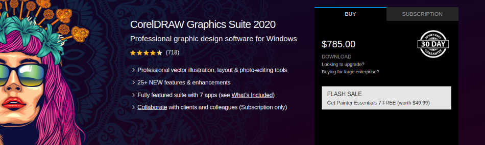 CorelDRAW Graphics Suite 2020 Pricing