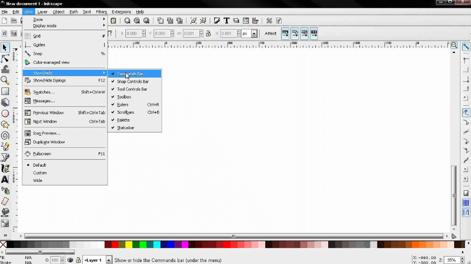 Inkscape Interface