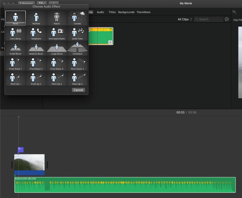 iMovie Visual Effects