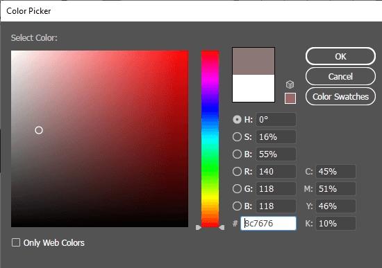 Adobe Illustrator Color Picker