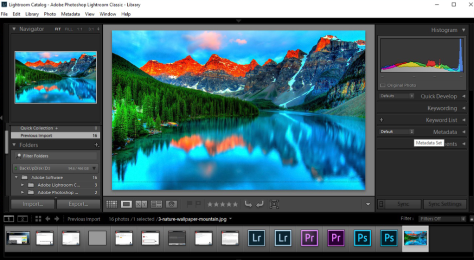 Adobe Lightroom features