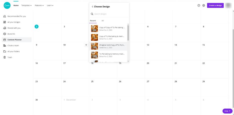 Canva Content Planner