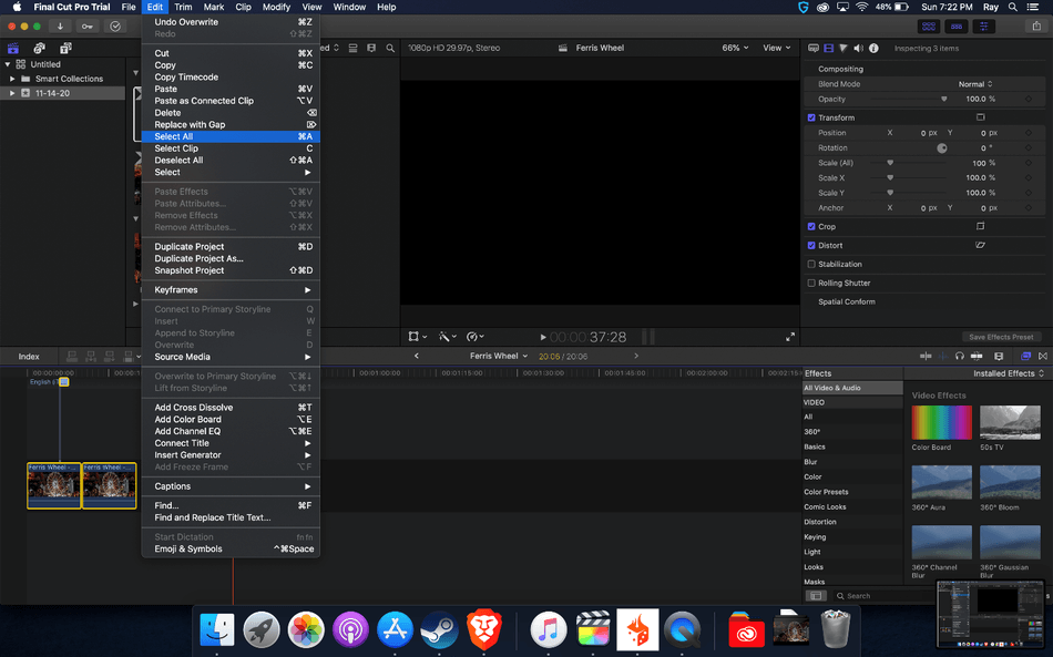 How to Export on Final Cut Pro 1