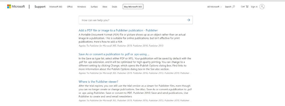Microsoft Publisher Learning