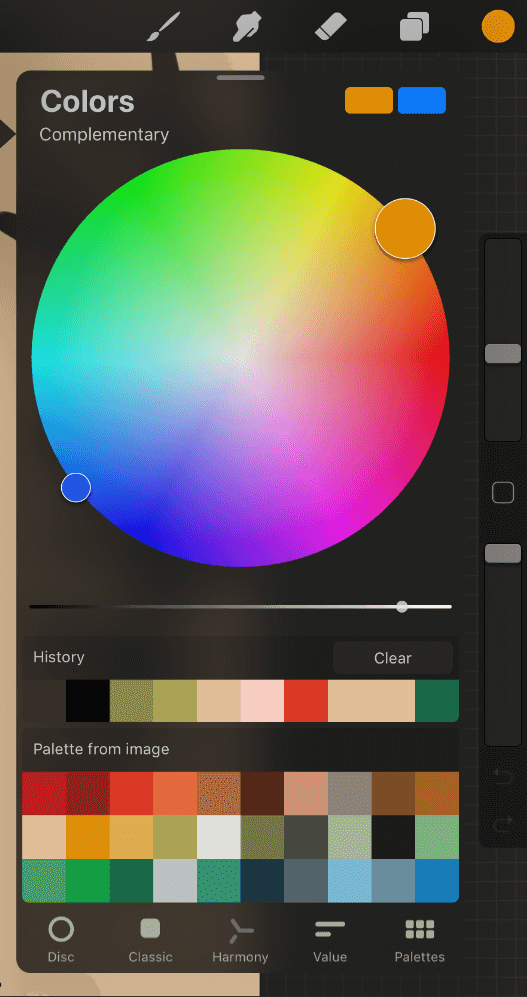 Procreate Color Palettes And Wheel