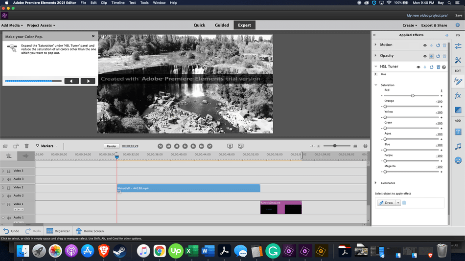 Adobe Premiere Elements Review working on colors