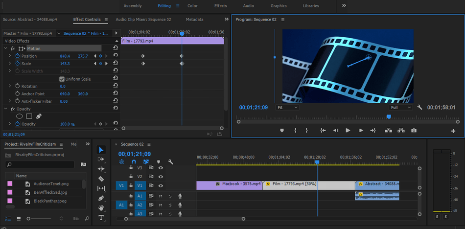 Adobe Premiere Pro features