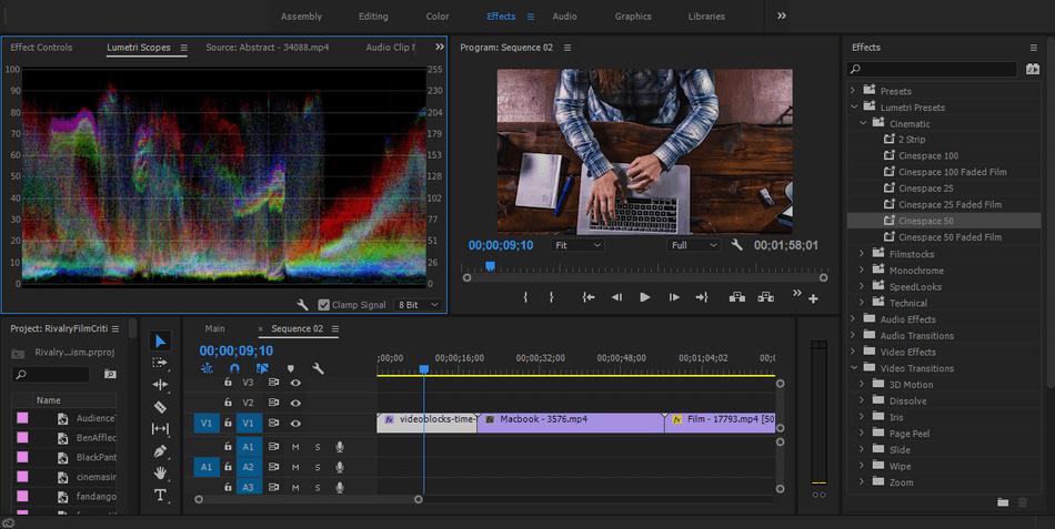 Adobe Premiere Pro lumetri scopes