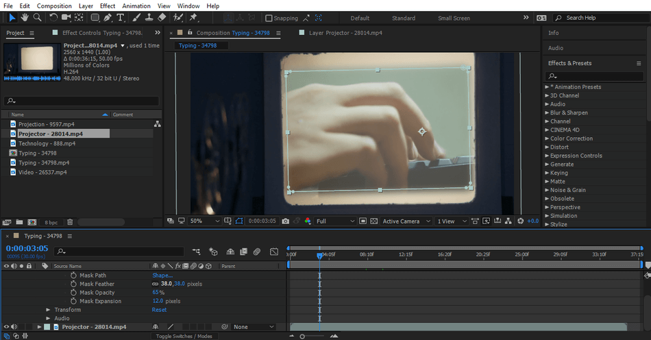 After Effects output