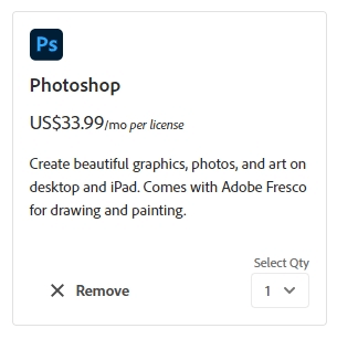 How much does Photoshop cost 11