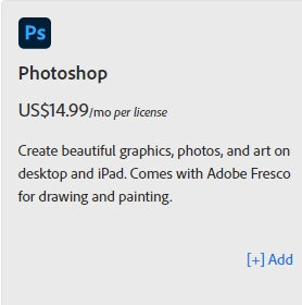 How much does Photoshop cost 7