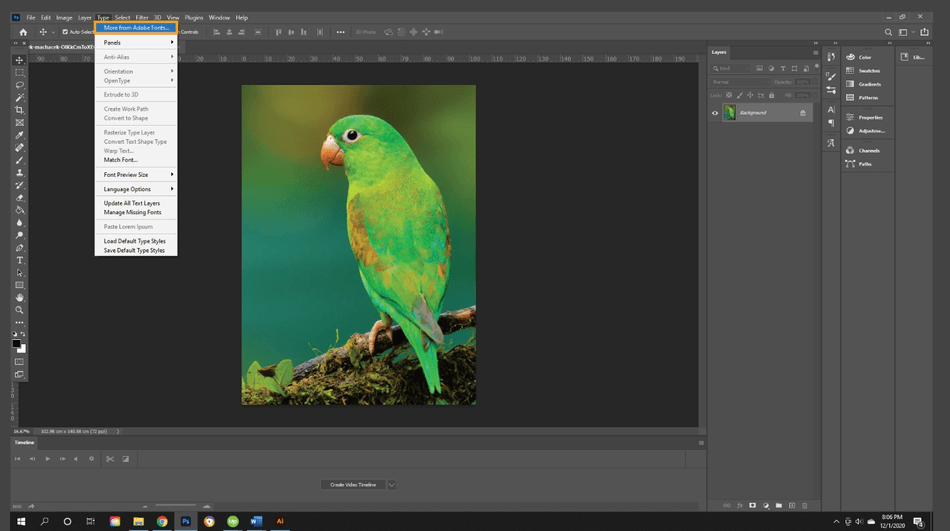 How to Add Import Fonts to Photoshop 1
