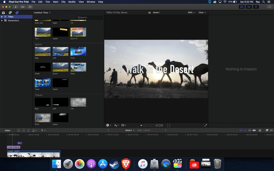 How to Add Text in Final Cut Pro 14