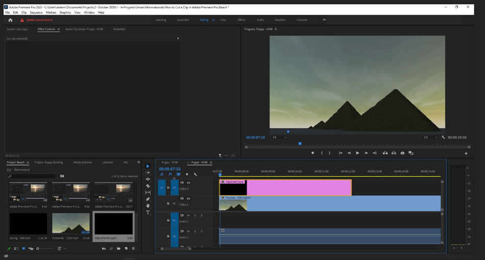 How to Add an Adjustment Layer in Adobe Premiere Pro 4