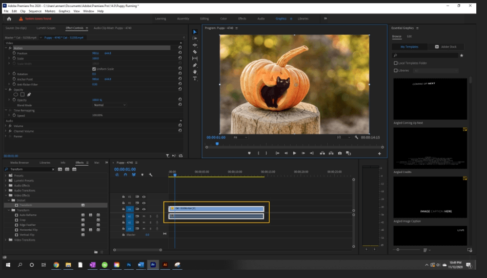 How to Create a Zoom In Effect in Adobe Premiere Pro 2