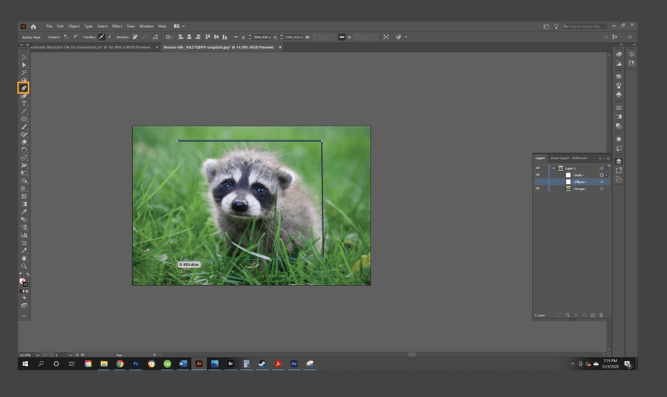 How to Crop an Image in Illustrator 14