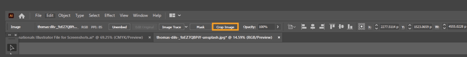 How to Crop an Image in Illustrator 4