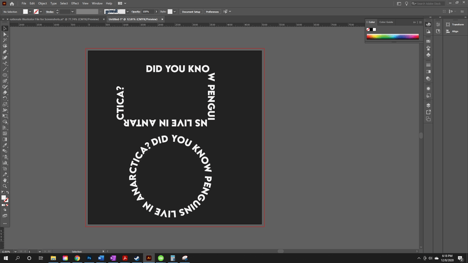 How to Curve Text in Illustrator 22