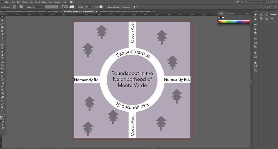 How to Curve Text in Illustrator 30